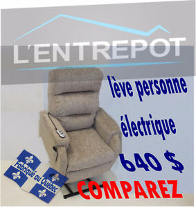 Fauteuil lève-personne & inclinable - TOUJOURS MOINS CHER ICI