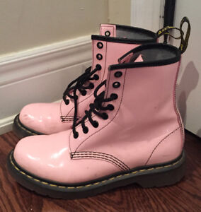 Dr. Martens Pink Sz 7 Patent Leather Boot I Ship