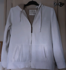 Hot Tuna Dri State hoodie size 14 Oatmeal and Tan fleece inside.