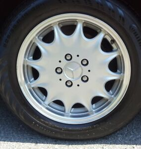 Mint rims with tires 225/55R16 from Mercedes SL500 R129