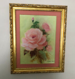 Assortment of small pictures in gold frames