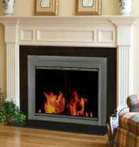 FIREPLACE GLASS SCREEN AND TRIM