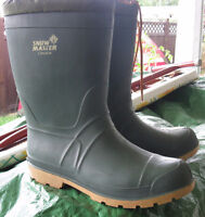 Men's Sz.12 Rubber Boots/Liners, Not Safety, Worn 1 or 2 X  $25