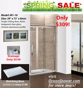 Raise Your Home's Value Frameless Tempered Glass shower Door