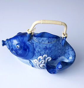 Porcelain Blue and White Tea Pot Prince George British Columbia image 1