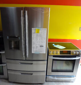 FRIDGE & STOVE STAINLESS STEEL APARTMENT SIZE & FULL SIZE DELIVE