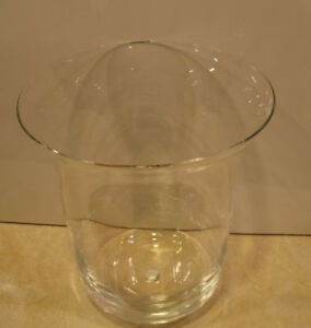 Partylite Clear Glass Hurricane Replacement for floor stand