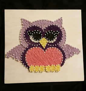 Owl String Art Picture