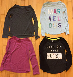 Girls Size 7 & 7/8 - Long Sleve Fall Tops (15)