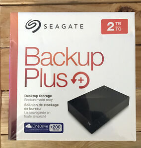 BRAND NEW 2TB Seagate Backup Plus w/200GB OneDrive Subscription