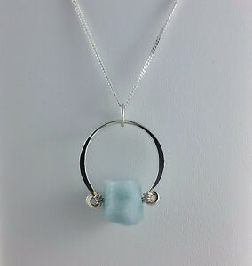 Brand New Aqua Silver Necklace