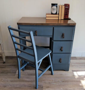 Condo Size Desk with Matching Chair