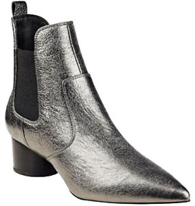 KENDALL & KYLIE LOGAN LEATHER METALLIC BOOTIES- SIZE 11