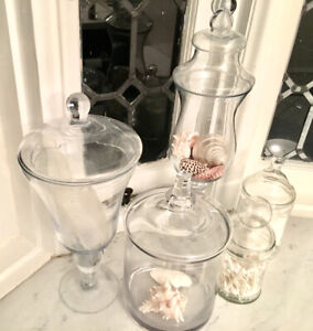Glass Jars. Apothecary Jars. 5 for $55