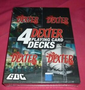 4 pack of Dexter Playing cards Cambridge Kitchener Area image 1