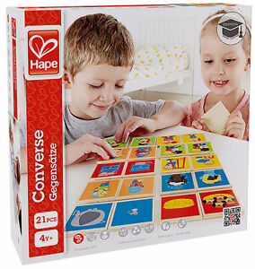 Brand New Hape Converse Kid's Wooden Card Learning Game