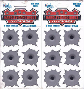 Hardley Dangerous bullet hole illusion decals
