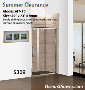 """39"""" All Size Glass Shower Door Clearance Sale ends this weekend"""