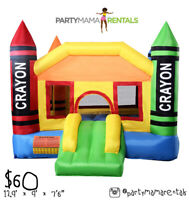 Crayon Bouncy Castle for rent $60!