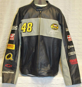 manteau cuire NASCAR Chase Jimmie Johnson #48 Nextel Lowes Navy