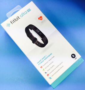 Black Small Fitbit Alta HR-Lightly Used (PRICE NEGOTIABLE)