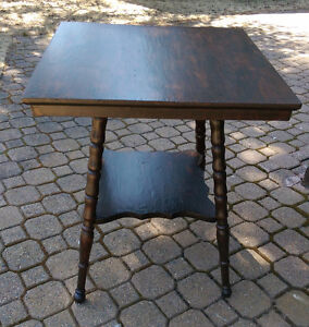 Reduced from $125.00!  Antique Oak Side Table
