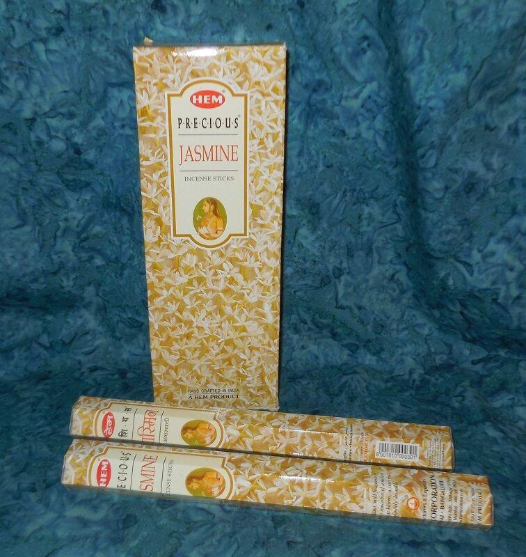 Precious Jasmine Natural Incense 40 Sticks New Sealed HEM Brand Euphoric Heady