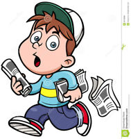Urgently needed - Newspaper delivery Carriers for early mornings