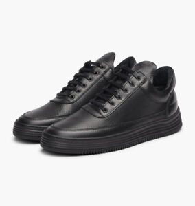 """""""Filling Pieces"""" Black Leather Sneakers .... 11.5 us (44 IT)"""