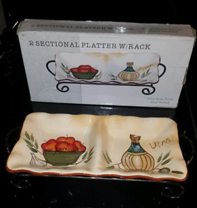 Platter Serving Dish with Rack.