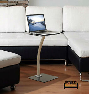 NEW ★ White/Black Laptop Table with matte Finish ★ Can Delive Kitchener / Waterloo Kitchener Area image 1