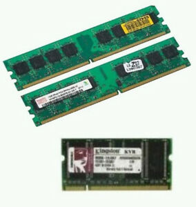 LAPTOP DESKTOP MEMORY RAM 1GB, 512MB AND 256MB DDR AND DDR2