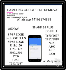 Samsung LG HTC HUWAIE Sony FRP GOOGLE LOCK REMOVAL FOR $25