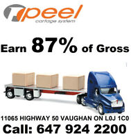 HIRING FLATBED OWNER OPERATOR 87% GROSS - $20K MONTH
