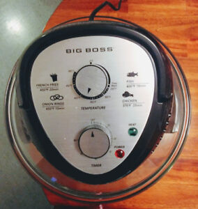 BIG BOSS FRYER & BLACK AND DECKER FRYING PAN LARGE.