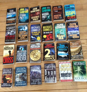 Assorted Paperback Books/Novels, $2.00 Each - St. Thomas