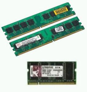 LAPTOP DESKTOP MEMORY RAM 1GB, 512MB AND 256MB DDR DDR2