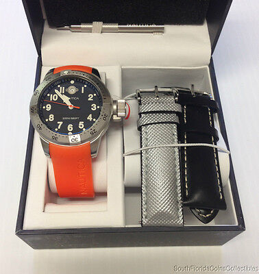 BRAND NEW IN BOX NAUTICA MENS BFC 200M SCUBA DIVERS WATCH N14508 GIFT SET