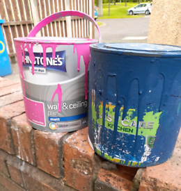 2 half used tubs of paint Collection antrim