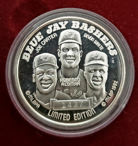 Blue Jays Bashers + 1992 American League Champs. Silver Coins
