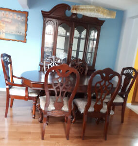 Furniture for Sale :Dinning Table  and Chairs along with almirah