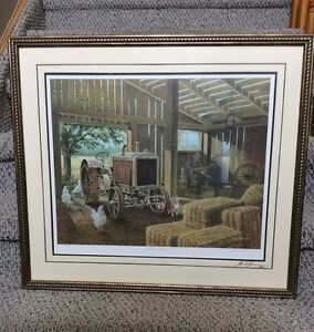 James Lumbers - A Game of Checkers framed and signed art