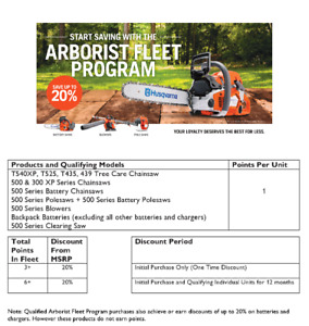 ARBORIST AND TREE CARE COMPANIES SAVE 20% - NEW PROGRAM AT TLG!