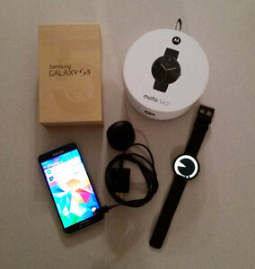 Mint Galaxy S5 and Moto 360 Smart watch for Galaxy S6 or S7 Edge