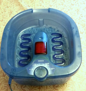 Homedics Luxury Foot Bubbler, with Massage, Heat and Products