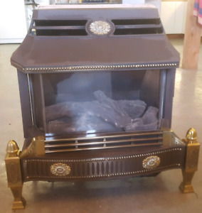 Gas free standing fire place