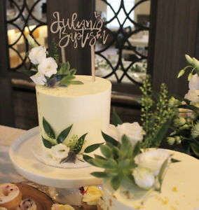 Personalized Acrylic & wood  Cake topper and signage