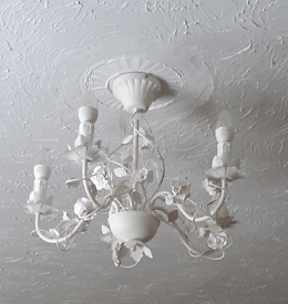 Rose decorated Ceiling light