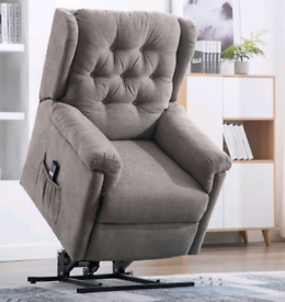 Fabric Recliner&Riser Armchairs brown or grey Available