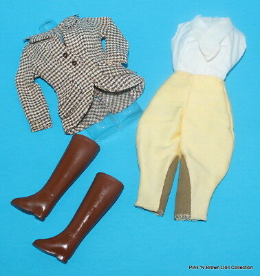 Vintage Mod Barbie Midge Doll Fashion Clothes 1966 'RIDING IN THE PARK' (Incomp)